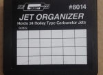 MR. GASKET Carburetor Jets Organizer, holds up to 24 Holley Type Carb Jets, # 8014