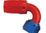 120 Grad gebogenes AEROQUIP FCM4044 / FBM4044 - 10 AN Reusable Swivel Hose End Aluminium Fitting, # FCM4044