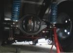 Gekürzte Ford 9 Zoll Achse mit Mosersteckachsen